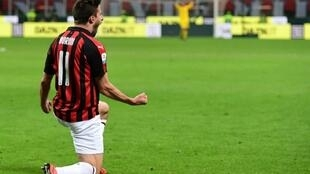 Fabio Borini scored eight goals in all competitions for Milan