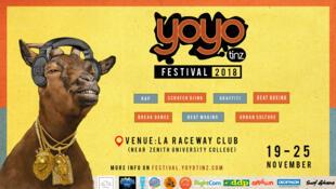 Affiche de la première édition du festival Yoyo Tinz.
