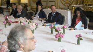Ямина Бенгиги на совещании по вопросам франкофонии в Елисейском дворце 18/03/2014 (архив)
