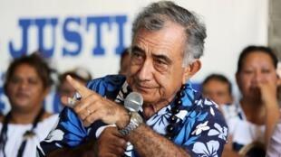 Оскар Темару, лидер партии «Тавини», выступающей за независимость Французской Полинезии.