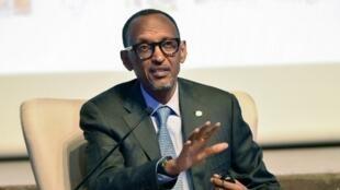 Le président rwandais Paul Kagame, invité à Abidjan par la Confédération générale des entreprises ivoiriennes, le 14 octobre 2019.