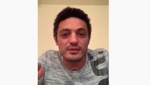 Mohamed Ali est devenu malgré lui le visage de la contestation anti-Sissi. Prise d'écran sur YouTube.