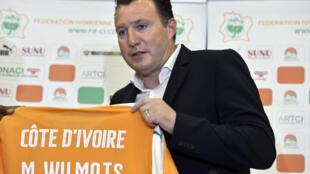 Le Belge Marc Wilmots, nouveau sélectionneur de l'équipe de Côte d'Ivoire.