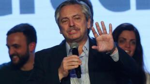 Le candidat à la présidence, Alberto Fernandez, le 11 août 2019.