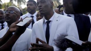 Le président Jovenel Moïse lors de la cérémonie de commémoration de l'assassinat de Jean-Jacques Dessalines, à Port-au-Prince, le 17 octobre 2019.
