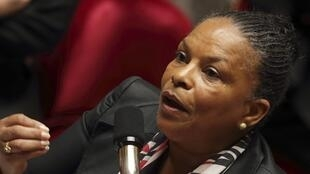 A ministra da Justiça, Christiane Taubira, em foto de arquivo.