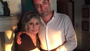 Брижит Бардо и Флориан Филиппо в резиденции актрисы в Сен-Тропе