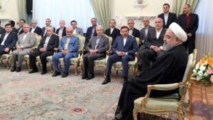 حسن روحانی در دیدار نوروزی با مدیران اجرایی کشور
