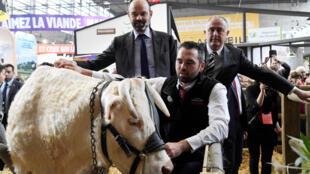 2月24日參加第57屆法國國際農業展的法國總理菲利普