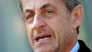 L'ancien président français Nicolas Sarkozy à Paris, le 21 mars 2019.