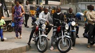 Les motos-taxis (okada) de Lagos sont désormais indésirables dans certains quartiers de Lagos (illustration de janvier 2020).