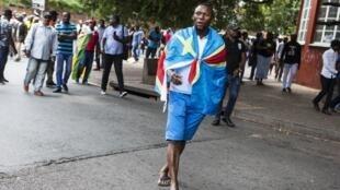 Des Congolais de Yeoville à Johannesburg manifestent pour un changement de régime en janvier 2018 (image d'illustration)