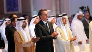 Presidente Jair Bolsonaro participa de fórum econômico nos Emirados Árabes Unidos (27/10/2019).