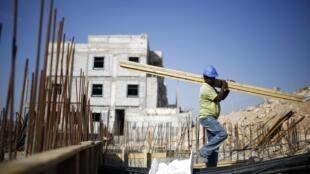 Canteiro de obras de uma nova colônia judaica em Pisgat Zeev, no dia 12 de agosto de 2013.