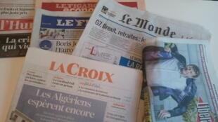 Primeiras páginas dos jornais franceses 22 de agosto de 2019
