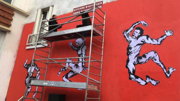 La fresque murale de l'artiste yéménite Murad Subay.