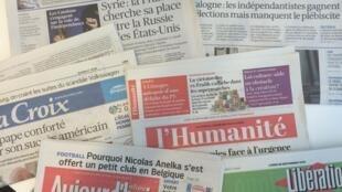 Jornais diários franceses de 28/09/15