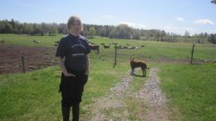 Anette Gustafsson, éleveuse de vaches laitières en bio dans la région de Norrtälje, Suède.