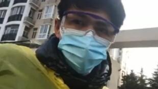 O jornalista independente Chen Qiushi produziu vídeos sobre a epidemia do coronavírus Covid19 em Wuhan e está desaparecido desde 6 de fevereiro.