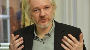 Julian Assange at the Ecuadorian embassy in London, 18 August, 2014