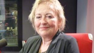 Marga Morel d'Arleux en los estudios de RFI