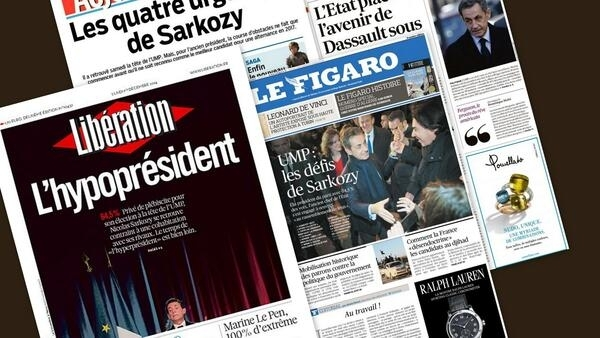Capa dos jornais Libération, Aujourd'hui en France, Le Figaro e Les Echos desta segunda-feira.