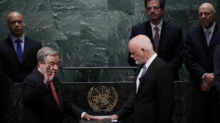 António Guterres toma juramento como nuevo secretario general de la ONU, el pasado 12 de diciembre de 2016.
