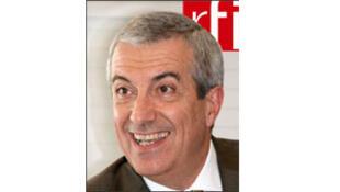 Calin Popescu Tariceanu, à RFI. Photo datée du 22 avril 2008.