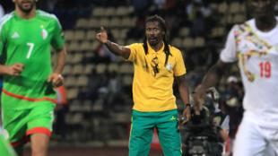 Aliou Cissé lors de la CAN 2017 au Gabon.