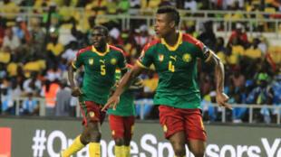 Le Camerounais Teikeu lors de la CAN 2017 au Gabon.