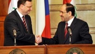 دیدار نوری المالکی و نخست وزیر جمهوری چک
