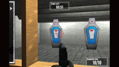 Captura de tela do aplicativo NRA: Practice Range lançado pela organização pró-arma americana (NRA).