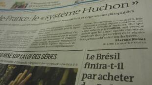 Com destaque na capa, jornal Le Monde explica, em reportagem de página inteira, o fracasso das negociações de compra dos caças Rafale.