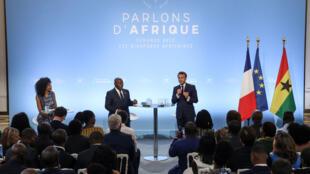 Emmanuel Macron ,Shugaban Faransa tareda Shugaban Ghana Nana Akufo Addo
