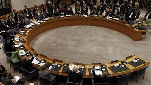 The UN Security Council meeting in New York on 17 March 2011 where the resolution was approved