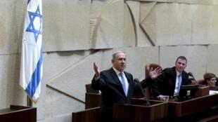 លោក Benyamin Netanyahu នៅចំពោះមុខអង្គសភា Knesset ថ្ងៃទី១៤ ឧសភា ២០១៥