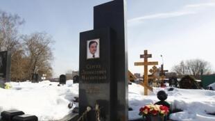 Tombe du juriste anti-corruption Sergueï Magnitski à Moscou, photographiée le 11 mars 2013.