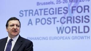 O presidente da Comissão Europeia, José Manuel Durão Barroso, durante fórum econômico em Bruxelas.
