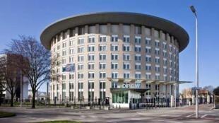 A sede da Organização para a Proibição das Armas Químicas, com sede em Haia.