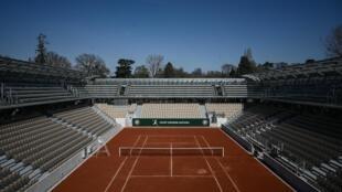 A nova quadra de tênis Simonne Mathieu após sua cerimônia de inauguração em Roland-Garros, em Paris. 21/05/19