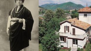 De gauche à droite : Alexandra David Néel ©Preus Museum - Samten Dzong ©Fondation Alexandra David-Néel.