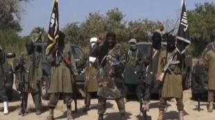 Shugaban Boko Haram Abubakar Shekau da mayakansa