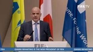 Tân chủ tịch FIFA Gianni Infantino. Ảnh 26/02/ 2016, tại Zurich, Thụy Sĩ.