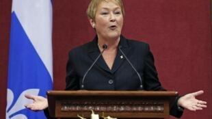 Quebec Prime Minister Pauline Marois