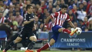 Atlético de Madri e  Chelsea empataram, 0 a 0, na primeira partida da semifinal da Liga dos Campeões da Europa.
