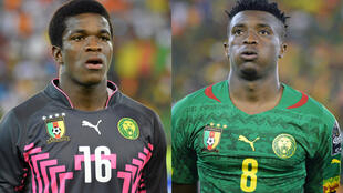 Cameroon goalkeeper Fabrice Ondoa (left) and skipper Benjamin Moukandjo were star performers during their quarter-final victory over Senegal..