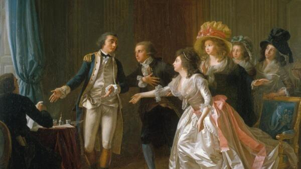 Le Contrat de mariage interrompu (1789)  by Garnier, Michel, in the Musée Carnavalet, Histoire de Paris.