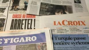 Primeiras páginas dos diários franceses 25/08/2016