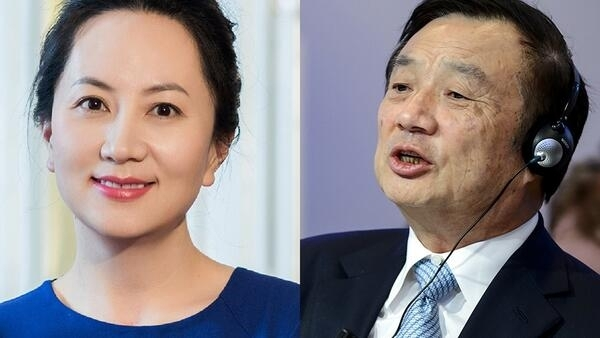 华为创始人任正非和其女、现任副董事长兼首席财务官孟晚舟