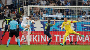 Marseille's Florian Thauvin scores OM's first goal  Marseille a 2-0 win over Salzburg in their Europa League semi-final first leg on April 26